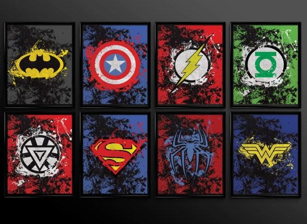 Superhero Wall Art Decor