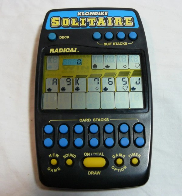 Radica Handheld Klondike Solitaire Lcd Electronic Spacemage