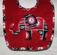 Alabama Baby Bib Elephant on a Red Bib with Crimson by ...