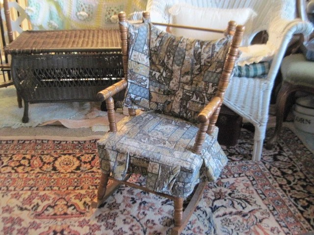 childs table and chair set swivel large vintage child's rocking / cricket style with a