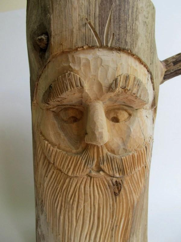 Wood Spirit Carving Garden Gnome Art Sculpture Whimsical