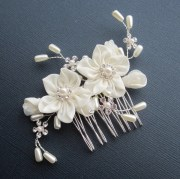 flower bridal comb grace hair