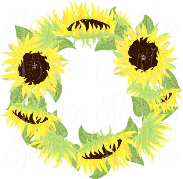 sunflowers mason jars digital
