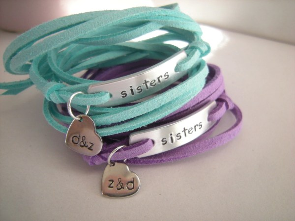 Sisters Bracelets Set Of 2 Personalized Small