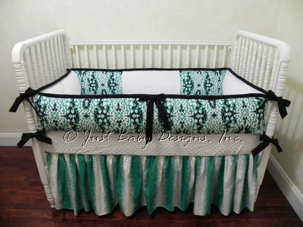 Sale Ready To Ship Baby Crib Bedding Set Teal By