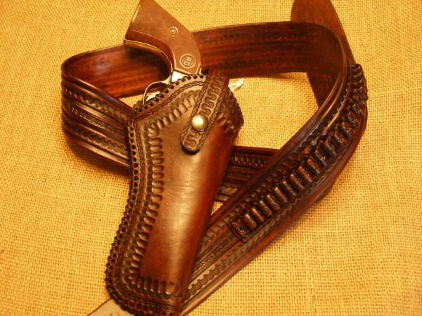 Leather Cartridge Belt Holster Combo