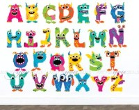 Monster wall decals   Etsy