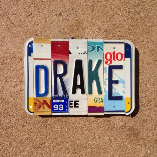 License Plate Sign. Boys . Art. Christmas. Idea. Room