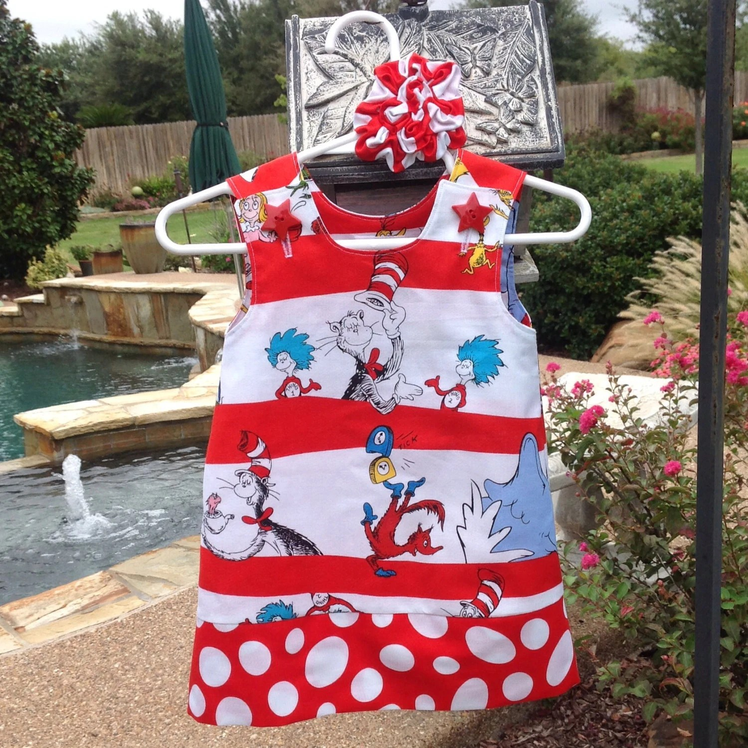 Dr Seuss Cat In The Hat Dress Red Amp White Baby Infant