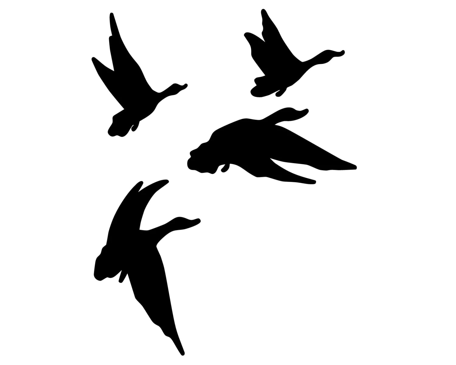Duck Hunting Vinyl Sticker Geese Hunter Decal Flying Geese