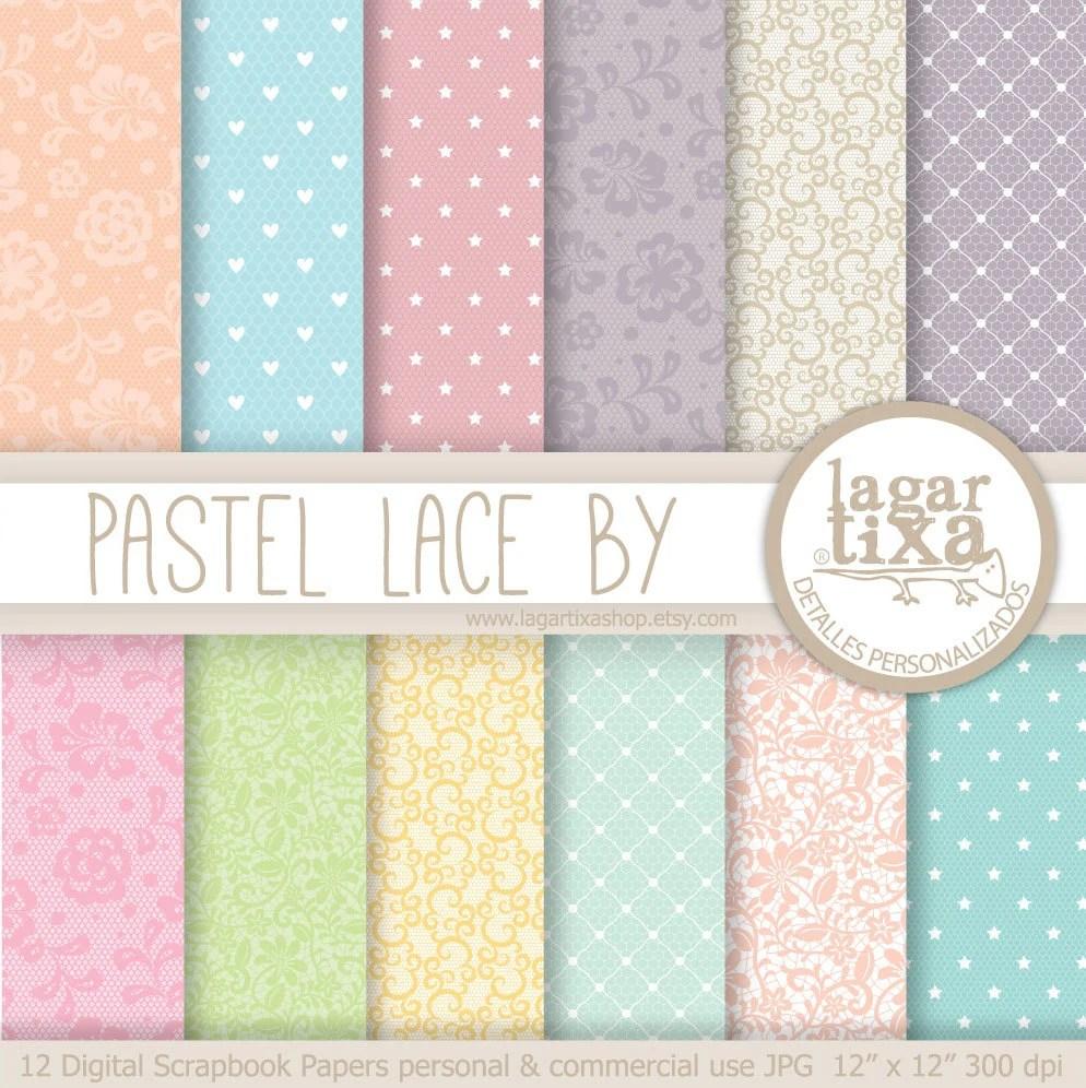 Digital Paper pastel Lace Background summer lace colors pale