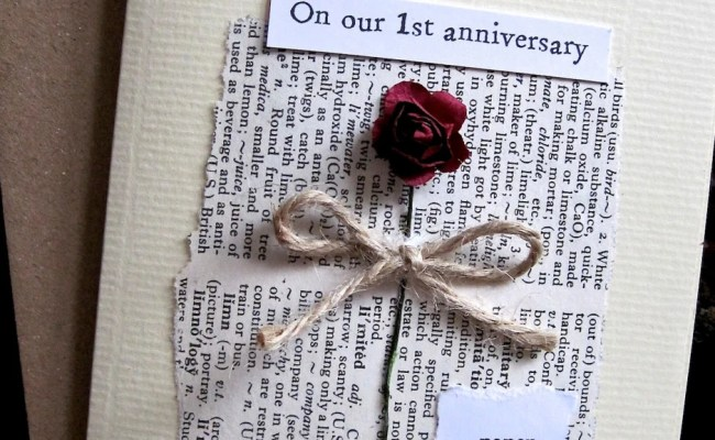 Romantic And Understated First Wedding Anniversary Card