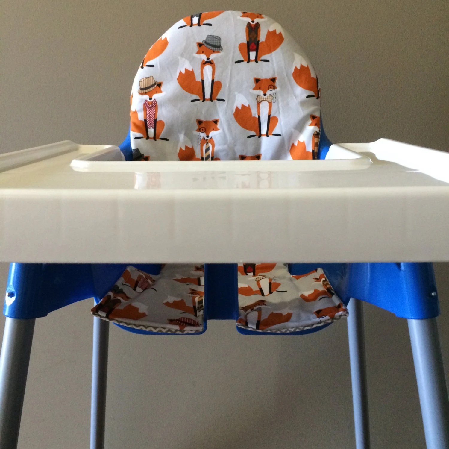 antilop high chair office york ikea cover cotton orange foxes and grey