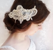 lace headpiece hair comb