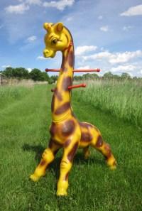 ON RESERVE Vintage Children's Plastic Giraffe Coat Rack