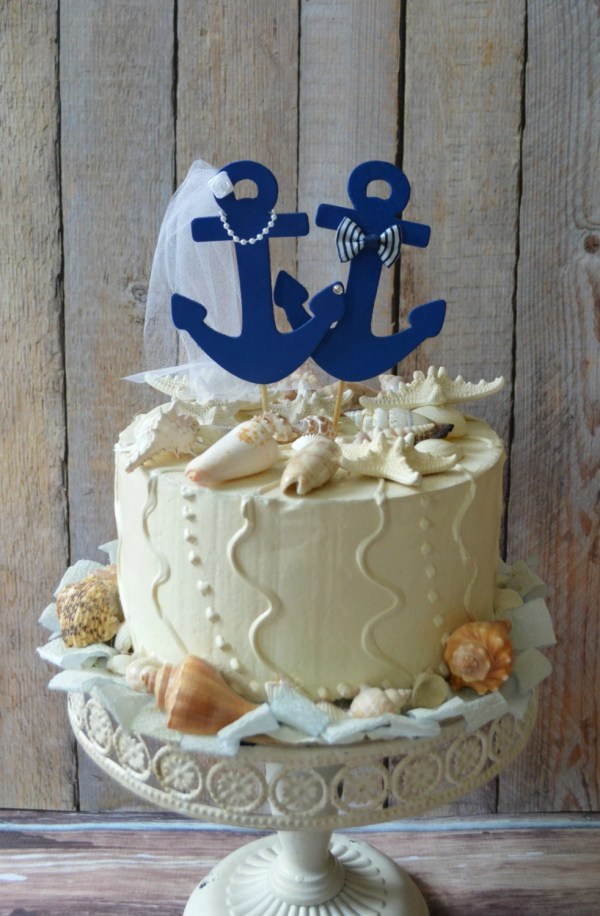Anchors Wedding Cake Topper-anchors-boat