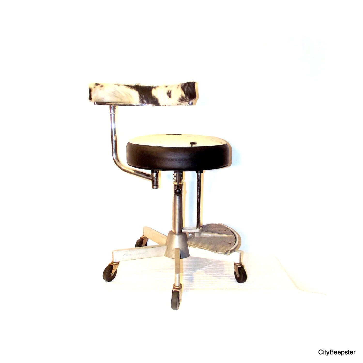 folding chair upcycle small beach chairs uk vintage industrial upcycled adjustable metal stool