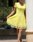 Yellow Lace Summer Dresses