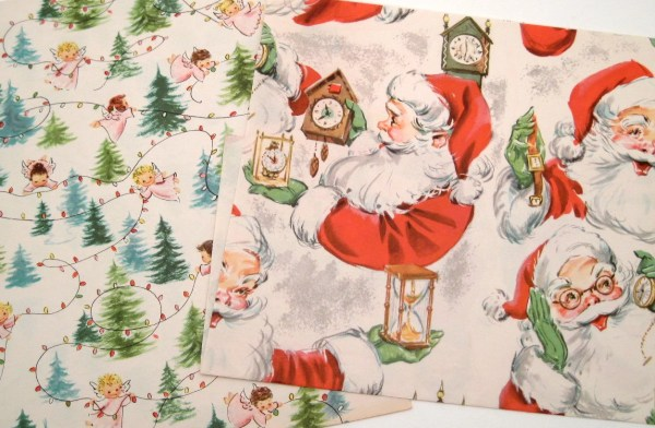 Vintage Christmas Gift Wrapping Paper