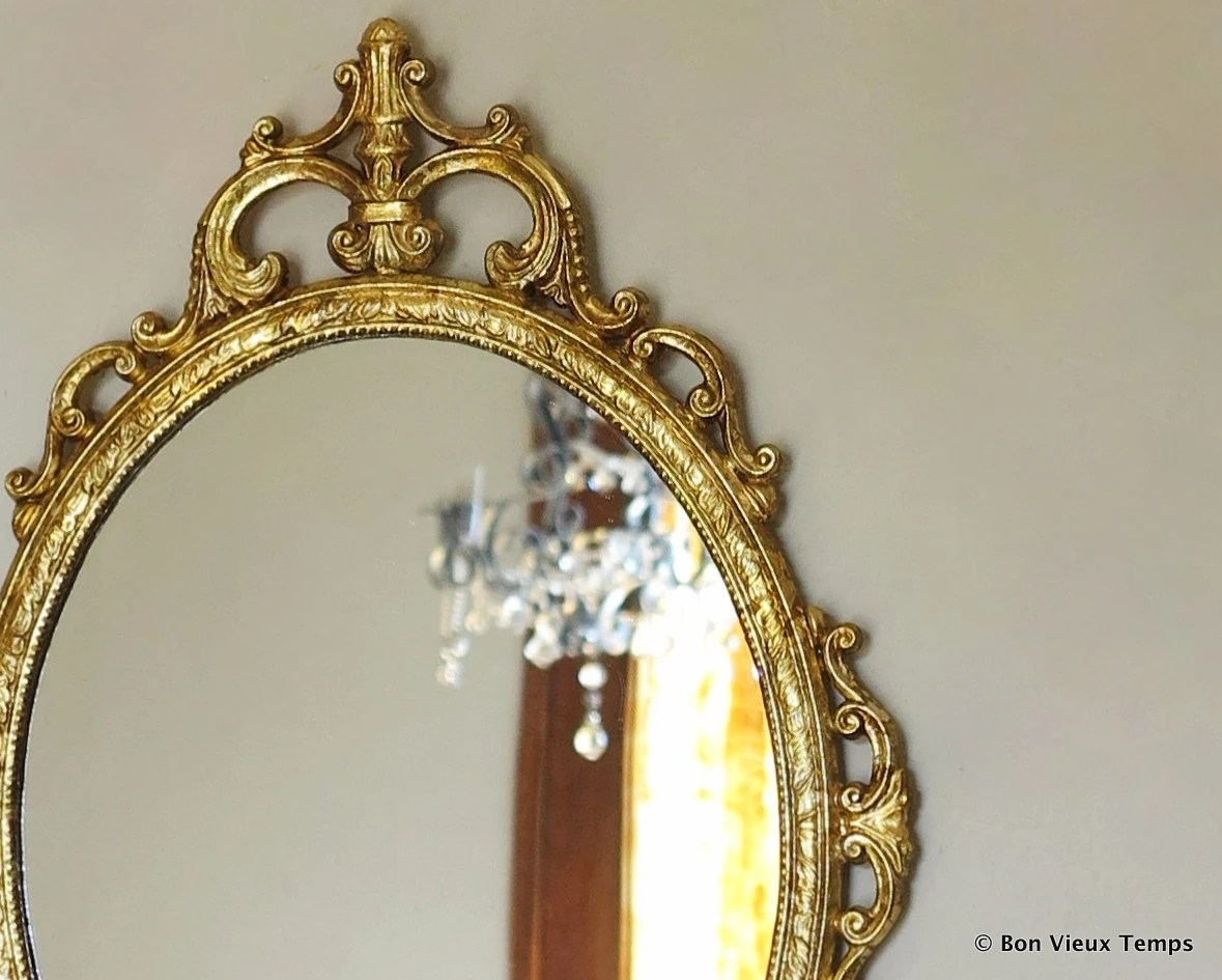 Vintage Gold Baroque Wall Mirror In Antique Gold Ornate Frame