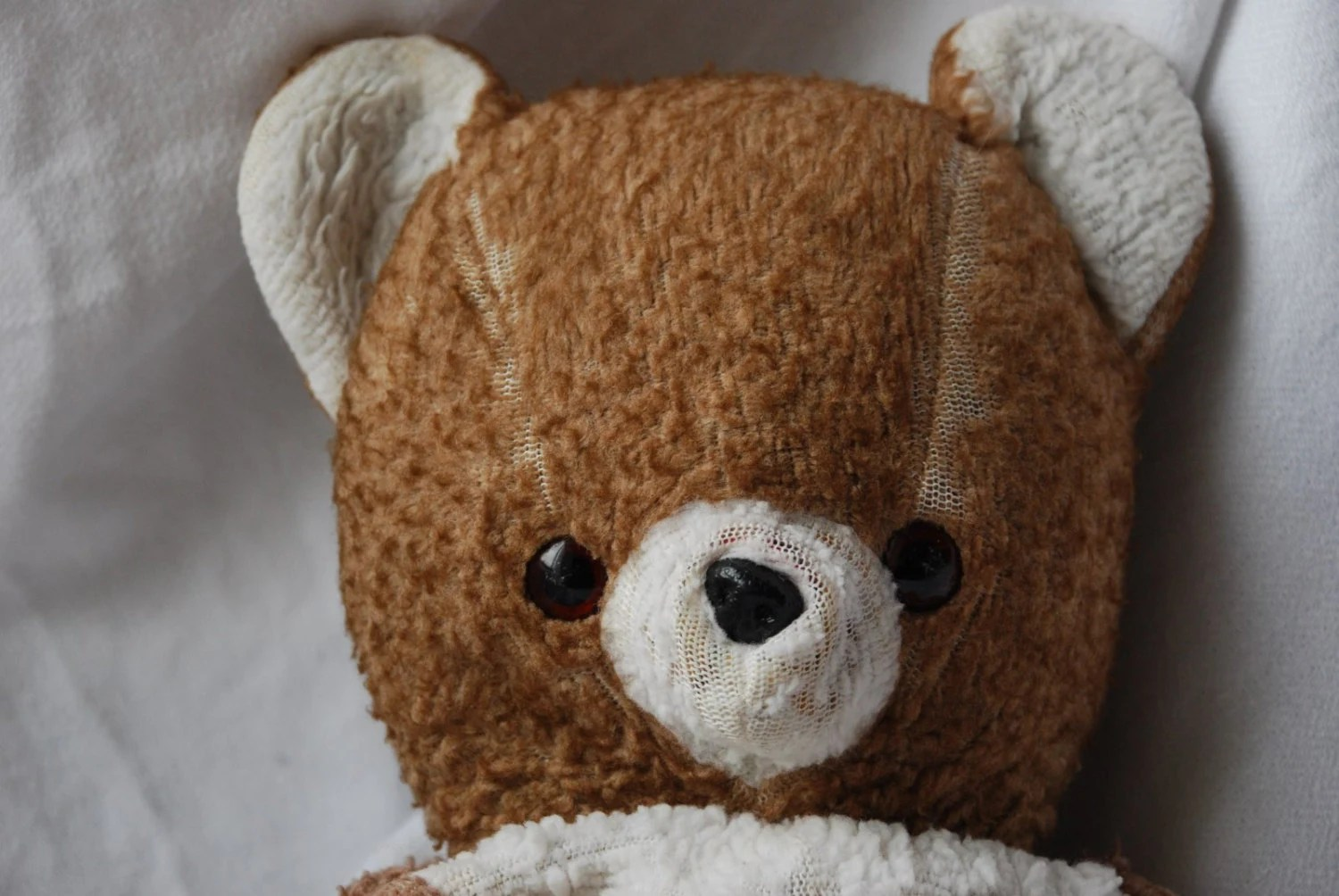 Vintage Soft Brown Teddy Bear Toy Animal 1960s Well Loved