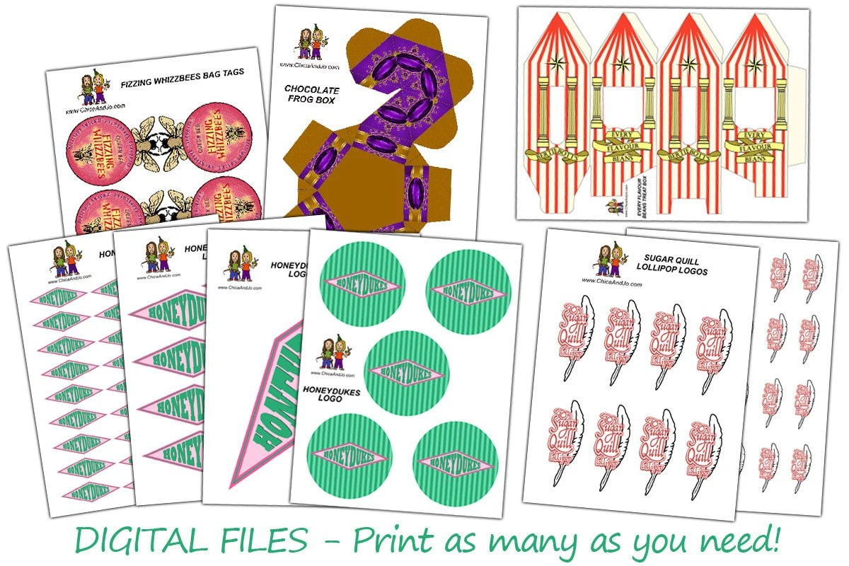 Harry Potter Party Favor Printables For Honeydukes By Chicaandjo