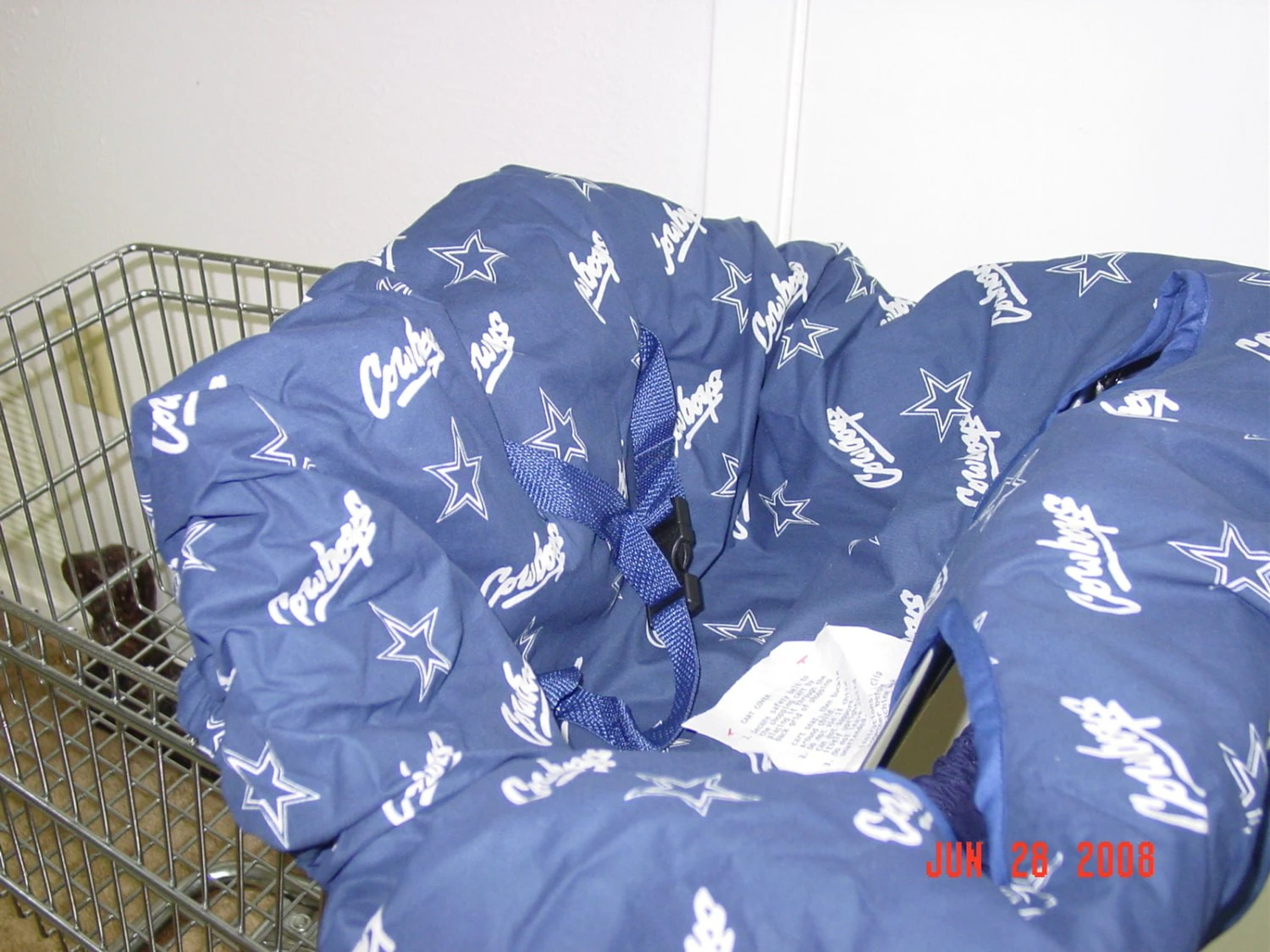 dallas cowboys chair cover stretch wedding covers cowboy baby shopping cart high by