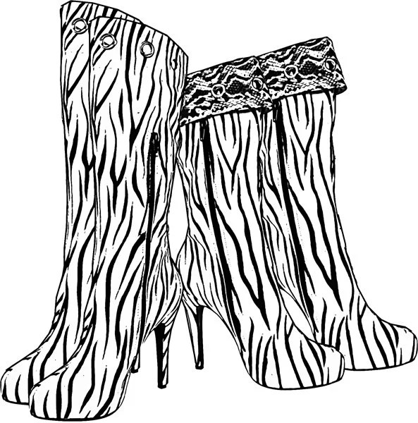 Popular items for shoe coloring page on Etsy