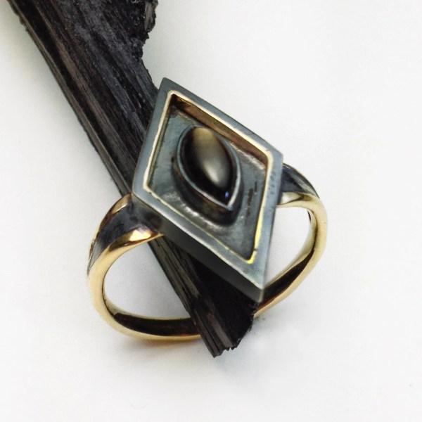 Black Star Sapphire Ring