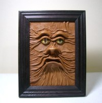 3D Leather wall art decor.. Horror Leather face by ...