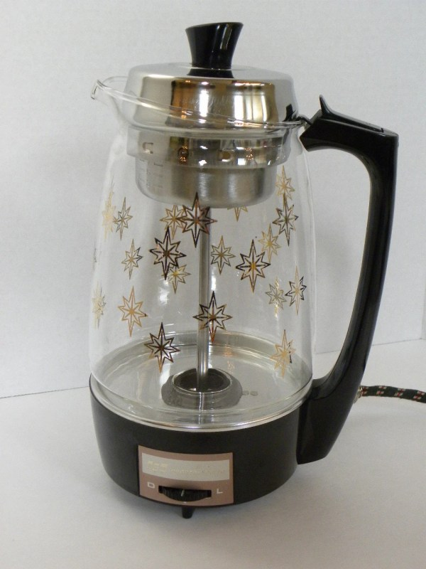 Vintage Coffee Percolator Electric Automatic Clear Glass