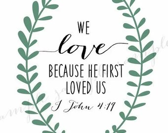 Download LOVE WALL ART Wreath Bible Verse Religious Christian We ...