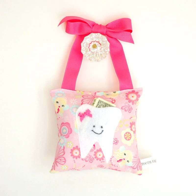 Girls Fairy Princess Tooth Fairy Pillow Tooth Fairy Gift in