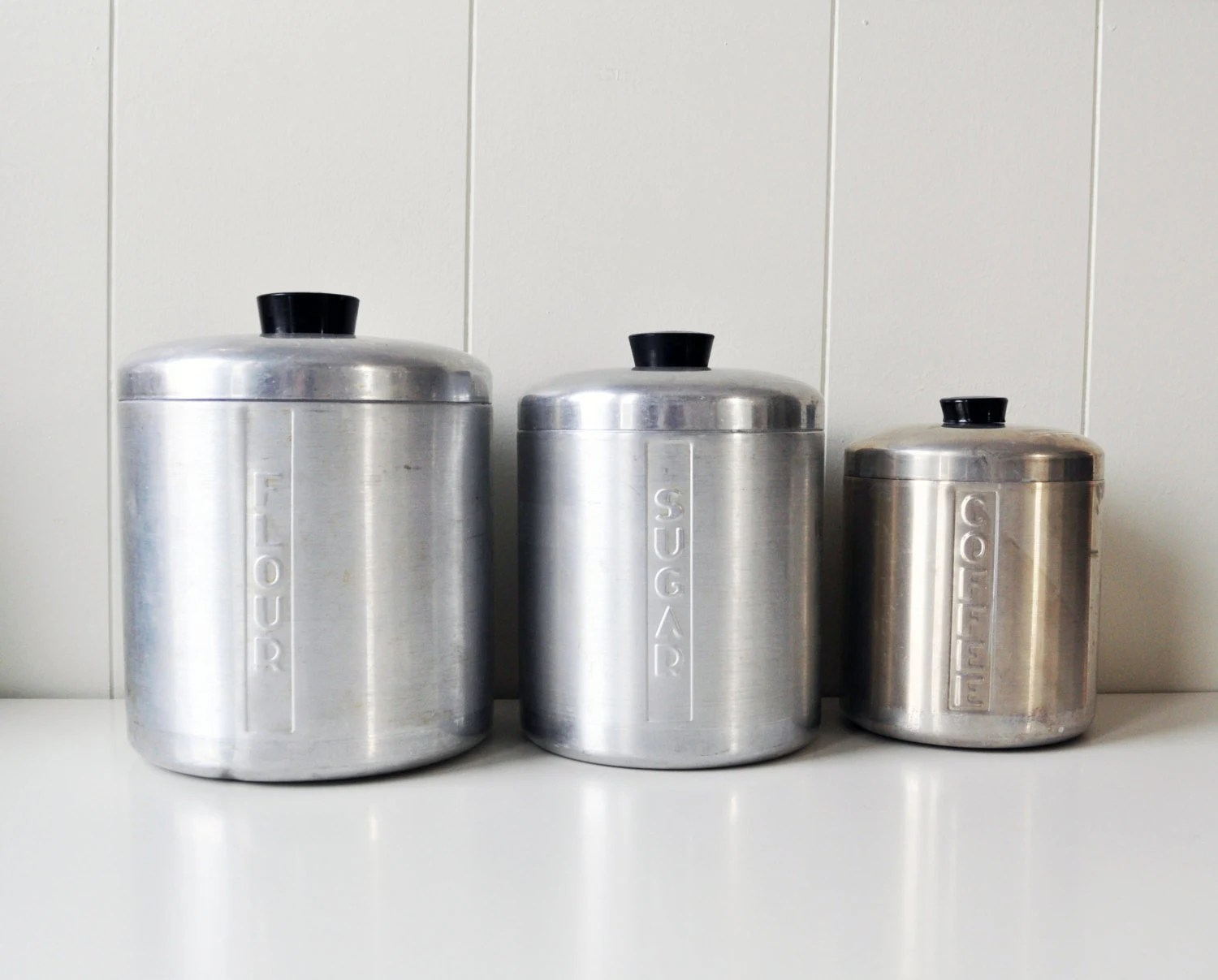 kitchen containers sink rug vintage set of canisters