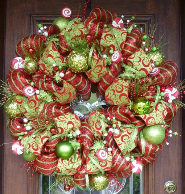 Whimsical Deco Mesh Christmas Wreath