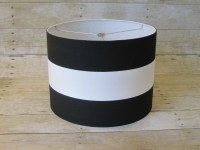Drum Lamp Shade Lampshade Pendant Black White Wide Stripe
