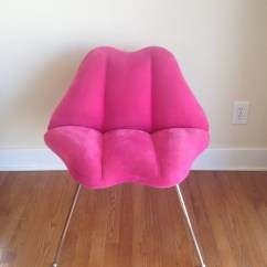 Egg Chairs For Sale Baby Relax Lainey Graphite Grey Wingback Chair And A Half Rocker Vintage Hot Pink Lips / Marilyn Monroe By Mellafina