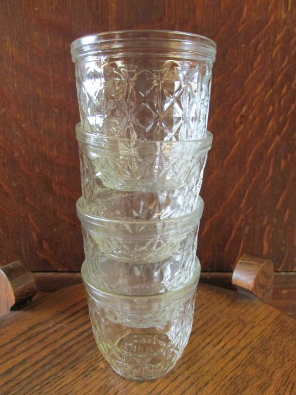 Set Of Ball Quilted Crystal Jelly Jars