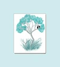 Tiffany Blue Tree Nursery Wall Art Baby Nursery by ...