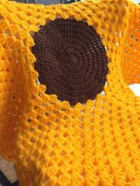 Sunflower Crochet Baby Blanket/Playmat