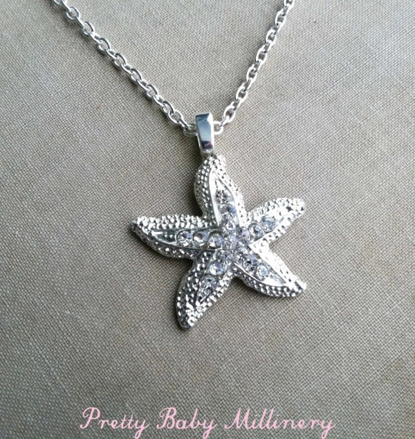 Starfish Necklace Sterling Silver Beach Wedding