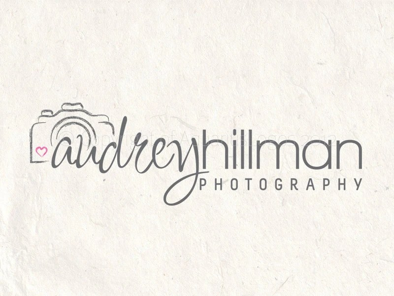 Photography logo design camera logo heart logo by