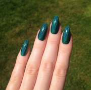 holographic green-teal stiletto