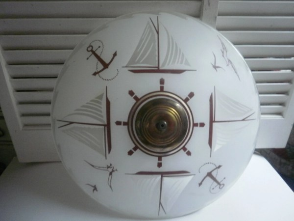 Nautical Ceiling Light Fixture Vintage Style Decorated