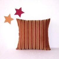 Rust Gold Cinnamon Pillow Cover Decorative 18 Accent