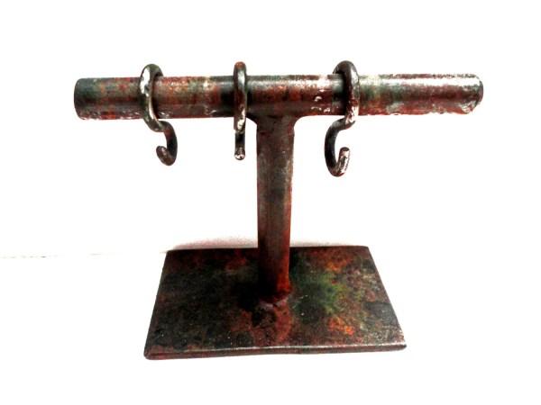 Metal Jewelry Display Stand With Hooks Bracelets Earrings