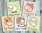 Cute Farm Animal Fabric L...