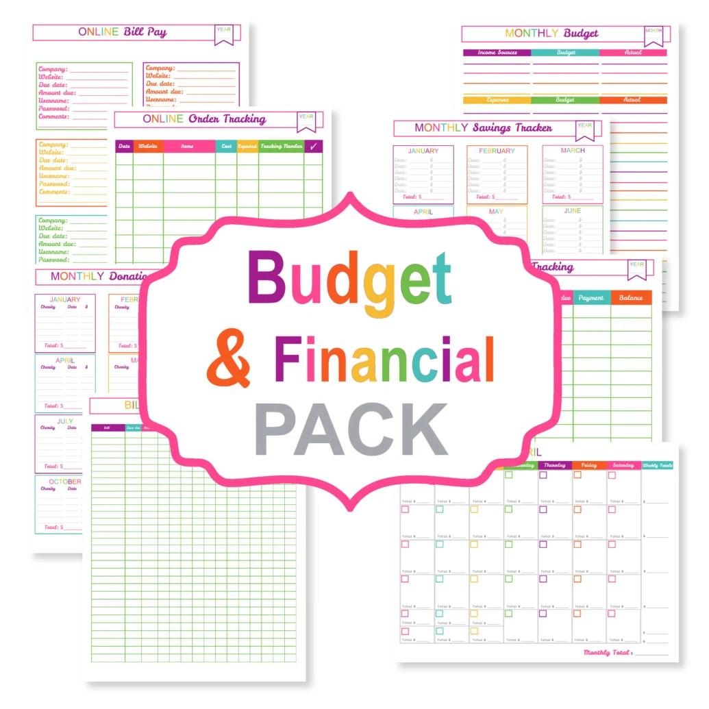 Printable Budget Planner Pack Printable Bill Tracker