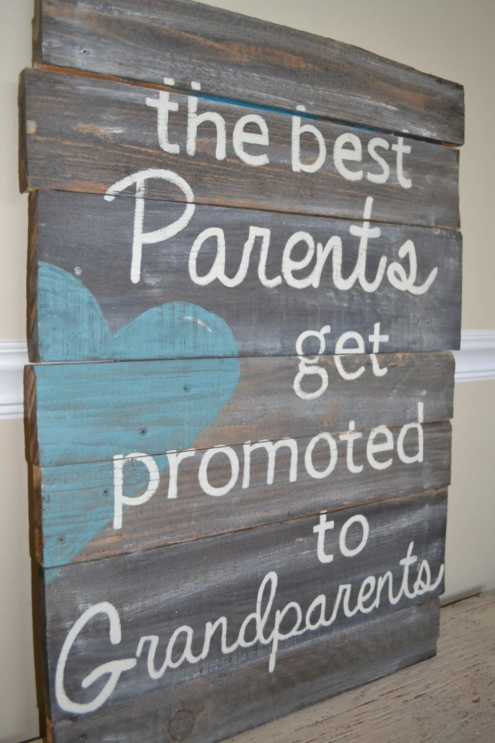 Items similar to Reclaimed Wood Sign  Best Parents are