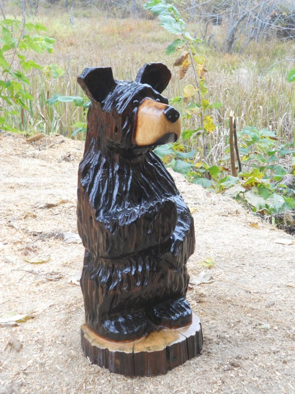 Original Chainsaw Carved Wood Black Bear Hand Alwayscarving